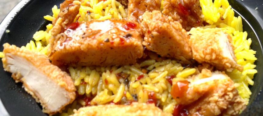 أرز ريزو بخلطة دجاج كنتاكي